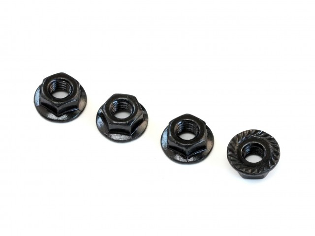 Destiny - 4mm Flanged Nut, 4 pcs (D10117)