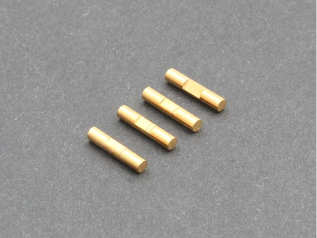 Radtec - 2x10mm Shaft Pin with Lock Slot, Titanium Coated, 4 pcs (PDJ-10011)