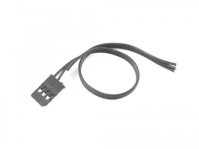"Radtec - ""BLACK"" Futaba Servo Wires with Golden Connector (EA-10001)"