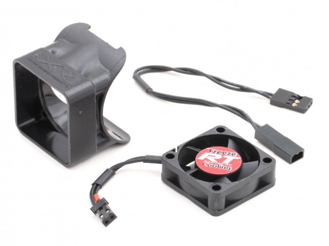 "Radtec - ""FREEZE"" 30x30mm Cooling Fan (V3), with JST plug and extenion wire + Xenon Fan Duct (MA-10016-0030H)"