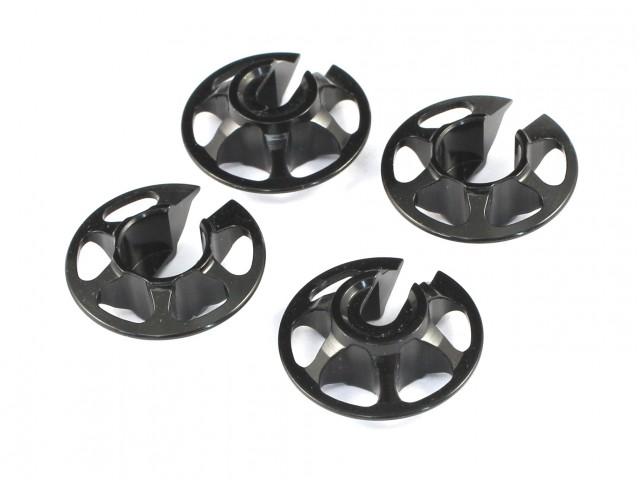 Radtec - Aluminum Spring Retainers, 4 pcs, Black (TA-10002)