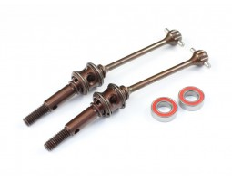 "Radtec - T4 52mm ""PREMIUM"" Steel Double Joint Drive Shaft Set, Front (XR-10004)"