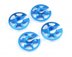 Radtec - Aluminum Lightweight Spring Retainers, 4 pcs, Blue (YK-10001)