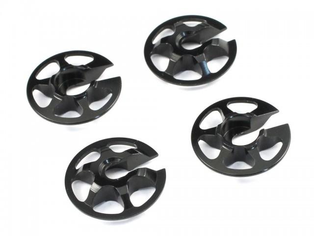 Radtec - Aluminum Lightweight Spring Retainers, 4 pcs, Black (YK-10002)