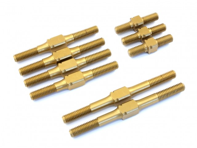 Radtec - Hard Coated Aluminum Turnbuckle Set for BD7, 9 pcs (YK-10008)