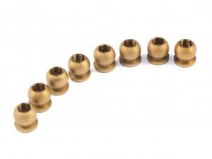Radtec - Hard Coated Aluminum Pivot Ball for BD7 Damper, 8 pcs (YK-10012)