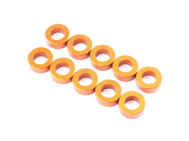 Radtec - 3x5.5x2.0mm Aluminum Spacer, 10 pcs, Orange (AC-10004)