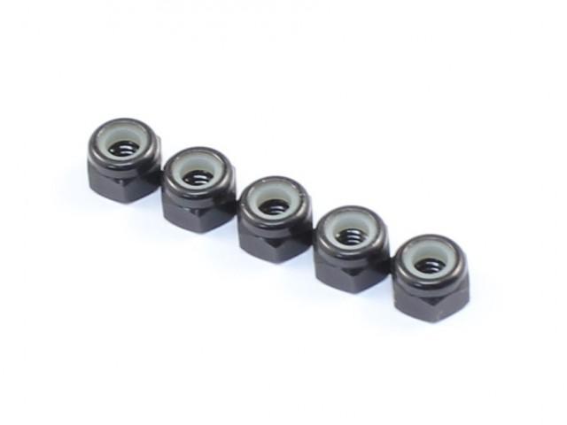 Radtec - M3x5.5 Aluminum Lock Nuts, 5 pcs, Black (AC-10013)