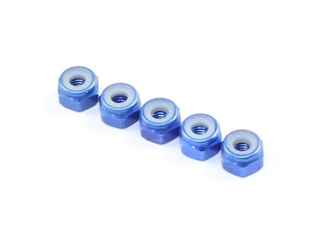 Radtec - M3x5.5 Aluminum Lock Nuts, 5 pcs, Blue (AC-10014)