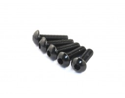 Radtec - M3x14mm Aluminum Button Head Screw, Black, 5 pcs (AC-30005)