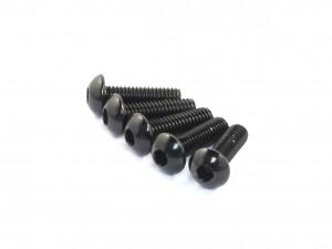 Radtec - M3x10mm Aluminum Button Head Screw, Black, 5 pcs (AC-30004)