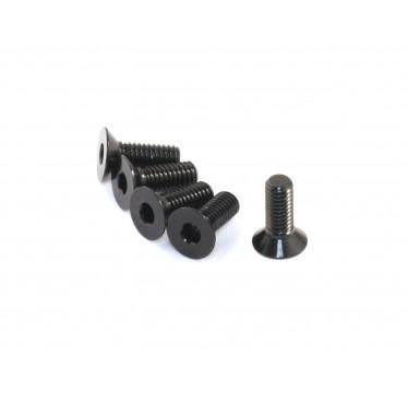 Radtec - M3x10mm Aluminum Flat Head Screw, Black, 5 pcs (AC-30008)