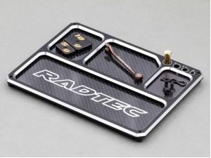 Radtec - Aluminum/Graphite Lightweight Parts Tray with magnet, Black/Silver (AC-20009)