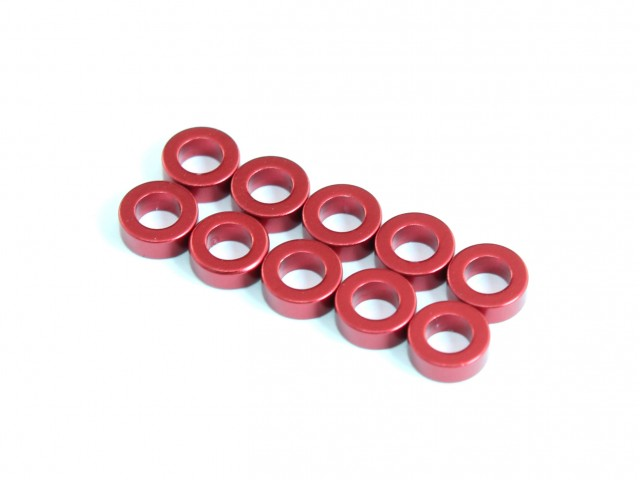 Roche - Aluminum Spacer 3x5.5x1mm, Red (510029)