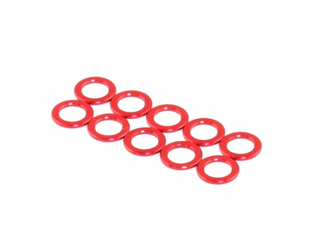 Roche - Aluminum King Pin Spacer, Red, M3.2x5x1.0 (510044)
