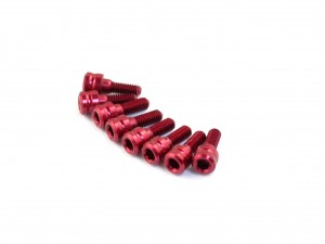 Roche - M2.5x6mm Cap Head Wheel Screw, Red, 8 pcs (510051)