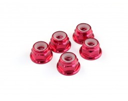 Roche - M4 Aluminum Locknut (Red), 5 pcs (510004)
