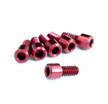 "Roche - 4-40x1/4"" Cap Head Screw with 2mm Hex, Red (510027)"