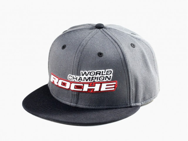 Roche - World Champion Commemorate Hat, Flat Bill, Gray/Black (920003)