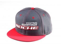 Roche - World Champion Commemorate Hat, Flat Bill, Gray/Red (920004)