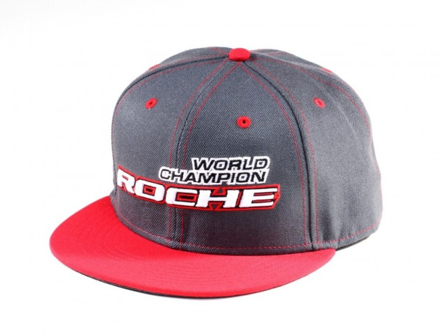Roche - World Champion Commemorate Hat, Flat Bill, Gray/Red (920004)