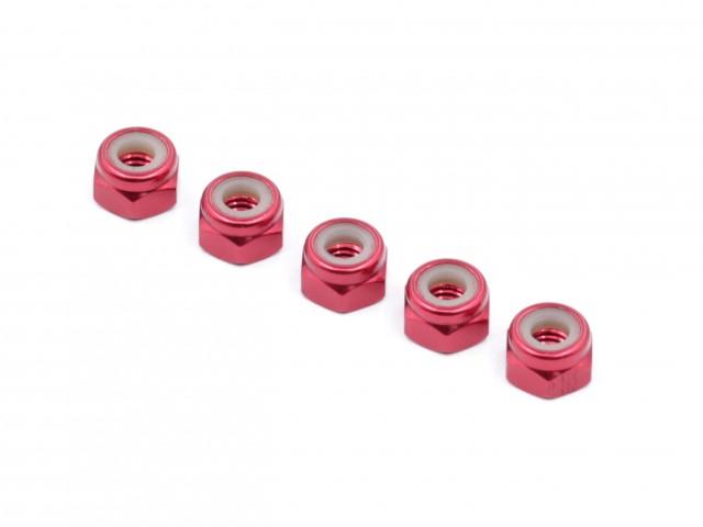 Roche - M4 Aluminum Locknut (Red), Thin, 5 pcs (510023)