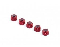 Roche - Aluminum M3 Locknut, Red, 5 pcs (510049)