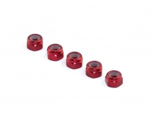 Roche - Aluminum M3 Locknut, Red, 5 pcs (510049)