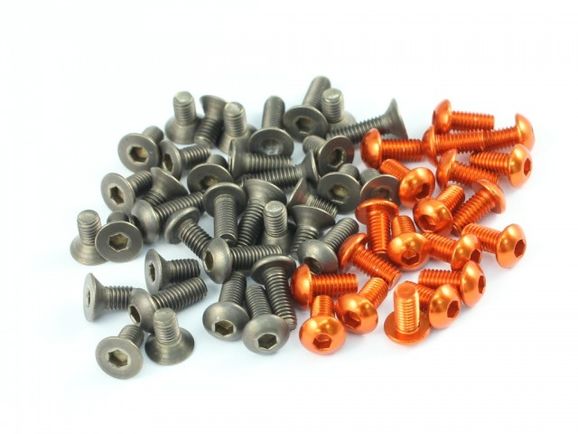 Roche - Titanium and Aluminum Screw Set for Xray T4-2014, 86 pcs (TS-CB8)